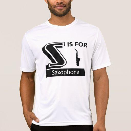 S está para el saxofón camisetas