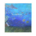 S está para el tiburón - arte para los niños bloc de papel