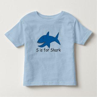 S está para la camiseta del tiburón remeras