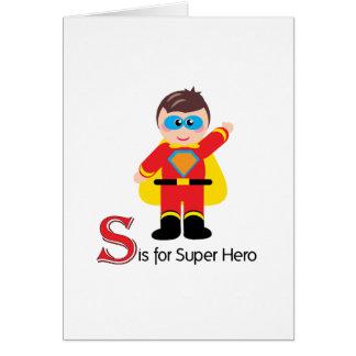 S está para la tarjeta de felicitación adorable de