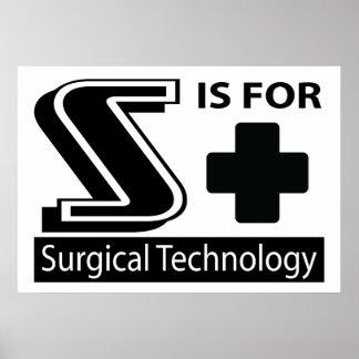 S está para la tecnología quirúrgica poster
