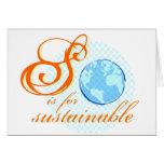 S está para las tarjetas sostenibles