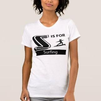 S está para practicar surf camisetas