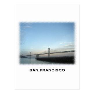 S.F. Bay bridge Post Card