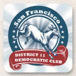 S.F. District 11 Democratic Club Coasters