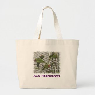 S.F. Wild Parrot Canvas Bags