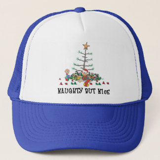 s First Christmas Naughty But Nice Trucker Hat