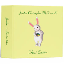"""__'s First Easter"" - Bunny w/ Four-Colored Egg Binder"