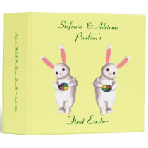 """__'s First Easter"" - Twin Bunnies w/ Four-Colored Binder"