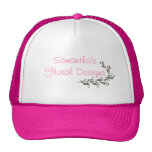 """__'s Floral Designs"" - A Vine Of Pink Roses [a] Mesh Hats"