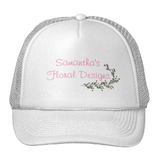 """""""__'s Floral Designs"""" - A Vine Of Pink Roses [a] Trucker Hat"""