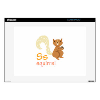 S for Squirrel Decal For Laptop
