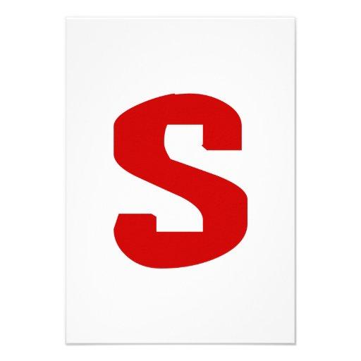 S for Superduper Custom Invitations