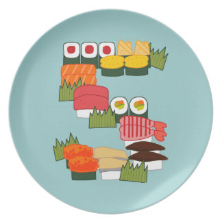 S for Sushi Plate
