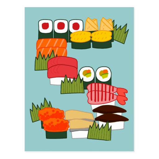 S for Sushi Postcard
