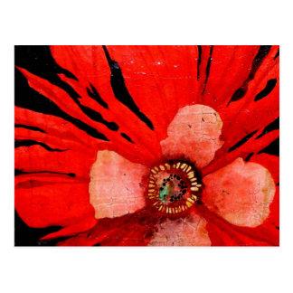 (s)Frilly Red Poppy Postcard