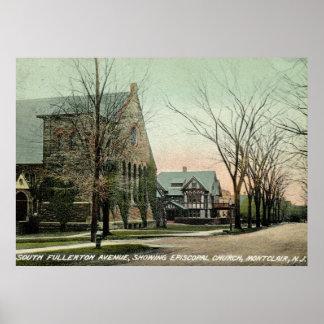 S. Fullerton Ave., Montclair, vintage de NJ Póster