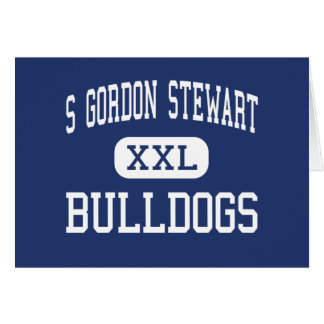 S Gordon Stewart Bulldogs Fort Defiance Greeting Card
