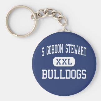 S Gordon Stewart Bulldogs Fort Defiance Basic Round Button Keychain