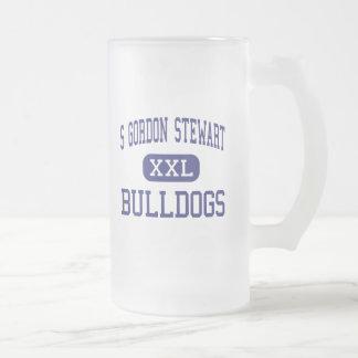 S Gordon Stewart Bulldogs Fort Defiance 16 Oz Frosted Glass Beer Mug