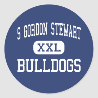 S Gordon Stewart Bulldogs Fort Defiance Classic Round Sticker