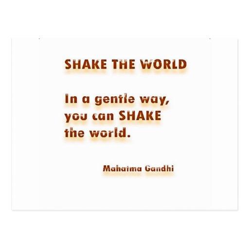 S H A K E   el mundo - Mahatma Gandhi Tarjetas Postales