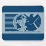 S.H.I.E.L.D. Logotipo de Eagle del mundo Alfombrillas De Ratón