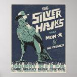 S-hawks concert poster - distressed