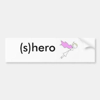 (s)hero car bumper sticker