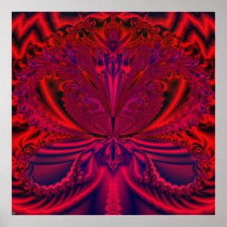 """S.I. """"Poster del arte del fractal del extracto de"""
