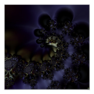 """S.I. """"Remorhas Rises"""" Fractal Abstract Art Poster"""