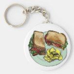 S is for Sandwich Basic Round Button Keychain