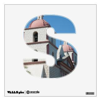 S is for Santa Barbara Wall Sticker