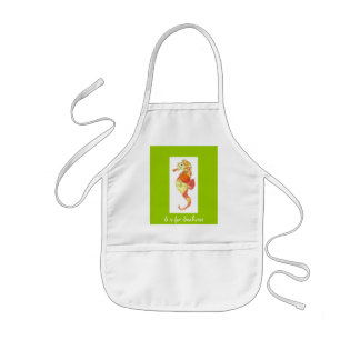S is for Seahorse Kids' Apron