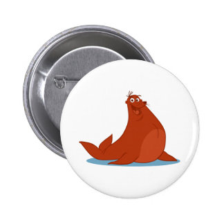 S is for Seal 2 Inch Round Button