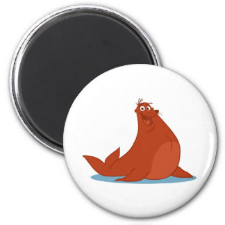 S is for Seal 2 Inch Round Magnet