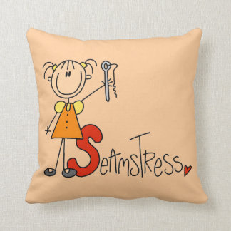 S is for Seamstress Throw Pillow