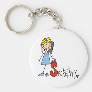 S is for Secretary Keychain