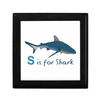 S IS FOR SHARK KEEPSAKE BOXES