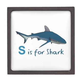 S IS FOR SHARK PREMIUM KEEPSAKE BOXES