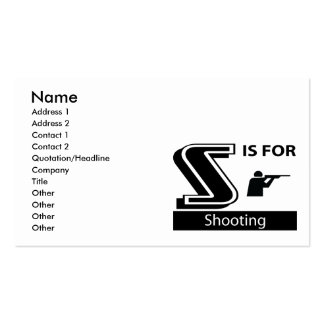 S Is For Shooting Business Card