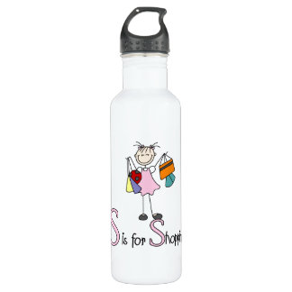 S is for Shopping 24oz Water Bottle