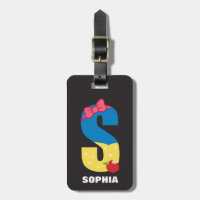 S is for Snow White | Add Your Name Luggage Tag
