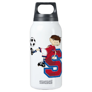 S is for Soccer Insulated Water Bottle
