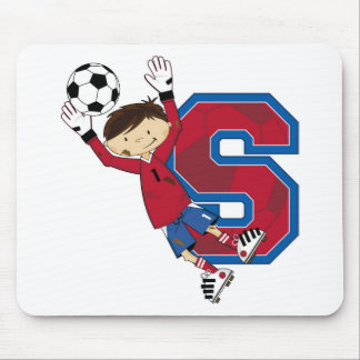 S is for Soccer Mouse Pad