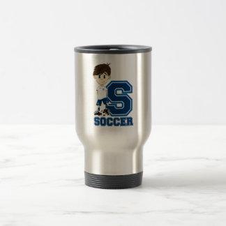 S is for Soccer Travel Mug