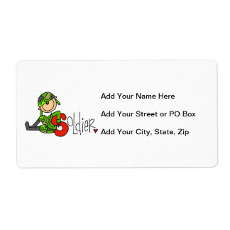 S is for Soldier Personalized Shipping Labels