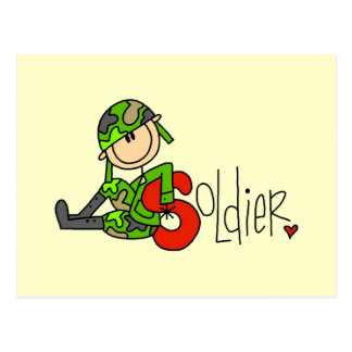 S is for Soldier Post Card