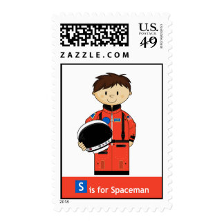 S is for Spaceman Stamp