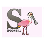 S is for Spoonbill Postcard